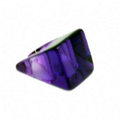 Jackie Brazil Large Square Ring in Transparent Purple